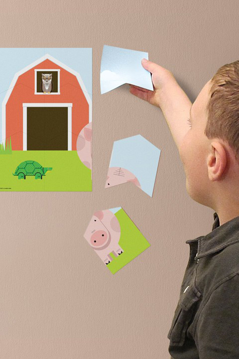 Farm Wall Puzzle - Kids Wall Stickers   A Modern Eden: Wall Sticker & Wall Decal Main Image