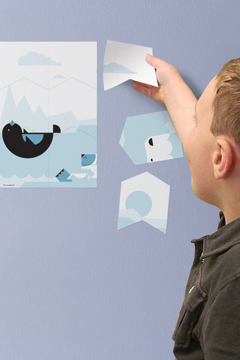 Polar Wall Puzzle - Kids Wall Stickers  A Modern Eden: Wall Sticker & Wall Decal Main Image