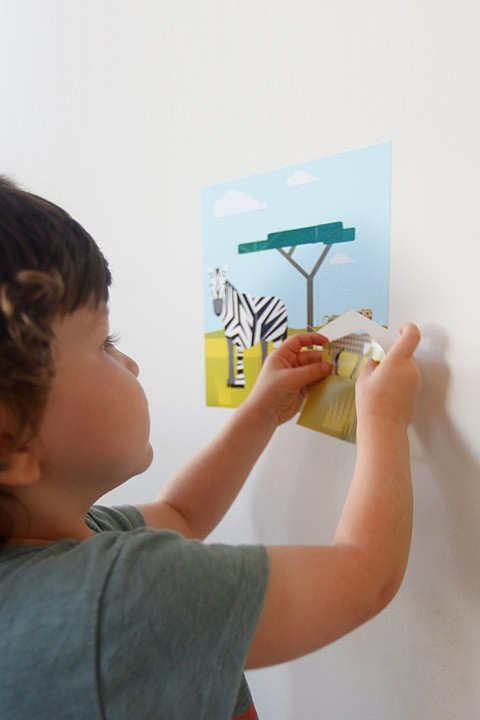 A Modern Eden - Safari Wall Puzzle - Kids Wall Stickers & Wall Decals only on Stickboutik.com - 3/4
