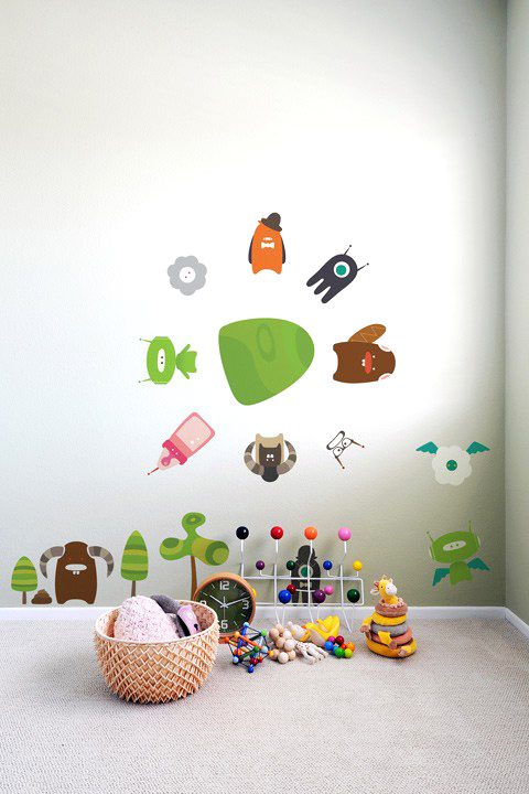BabyBot - Build-a-Bot  - Kids Wall Stickers & Wall Decals only on Stickboutik.com - 4/7
