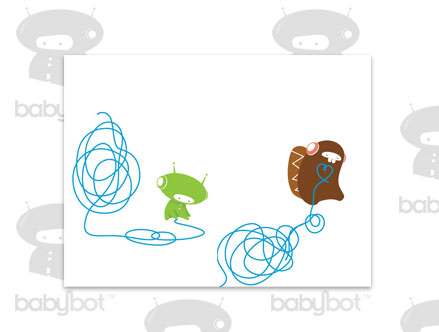 Package content: Doodle  - Kids Wall Stickers by  BabyBot - Only Stickboutik.com