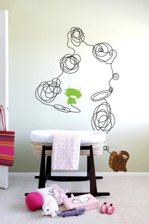 BabyBot - Doodle  - Kids Wall Stickers & Wall Decals only on Stickboutik.com - 4/7