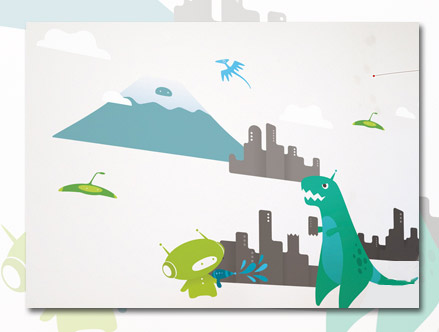 TRex - Kids Wall Stickers  BabyBot: Sticker / Wall Decal Outline