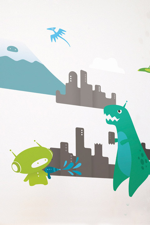 TRex - Kids Wall Stickers  BabyBot: Wall Sticker & Wall Decal Main Image