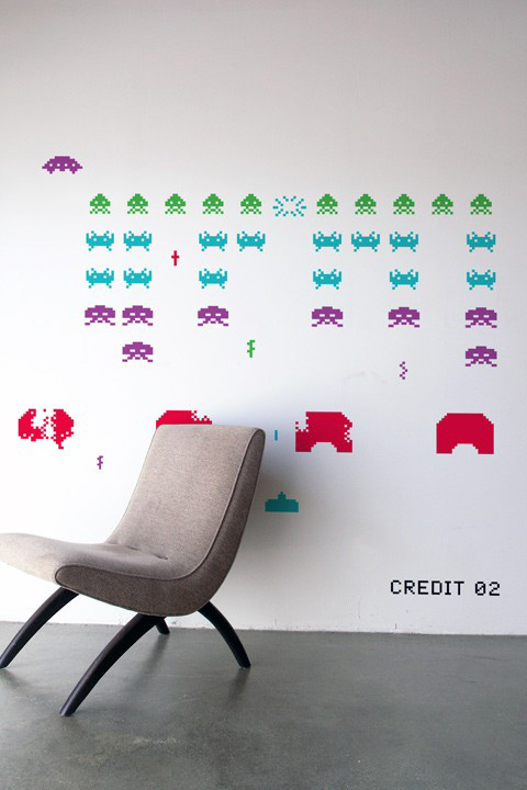 Space Invaders Stickers Géants Officiels   Taito Officiels - Stickboutik.com - 1/6