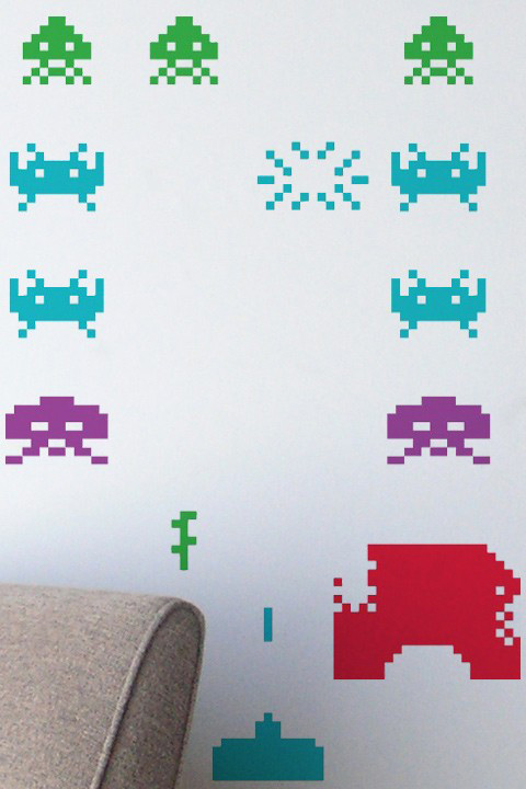 Space Invaders Stickers Géants Officiels   Taito Officiels - Stickboutik.com - 3/6