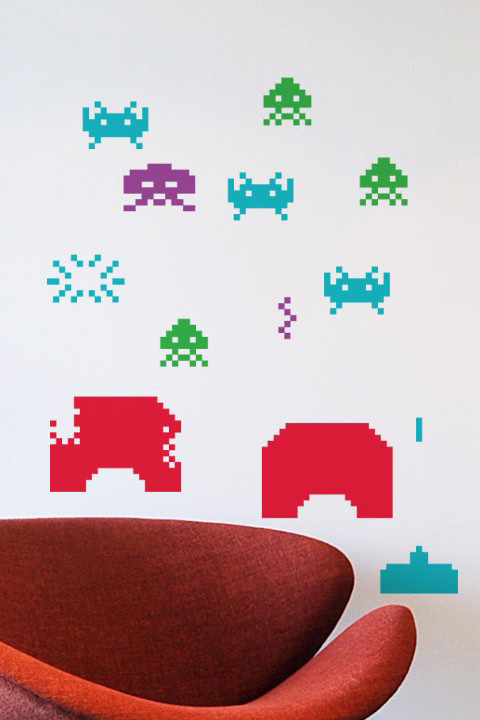 Space Invaders Stickers Géants Officiels   Taito Officiels - Stickboutik.com - 4/6