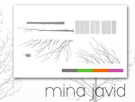 Package content: Four Seasons Graphite - Giant Wall Sticker by  Mina Javid - Only Stickboutik.com