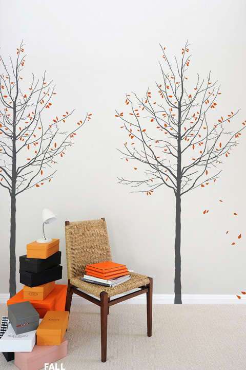 Mina Javid - Four Seasons Graphite - Giant Wall Sticker & Wall Decals only on Stickboutik.com - 2/5