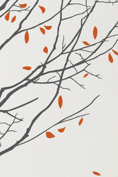 Mina Javid - Four Seasons Graphite - Giant Wall Sticker & Wall Decals only on Stickboutik.com - 3/5