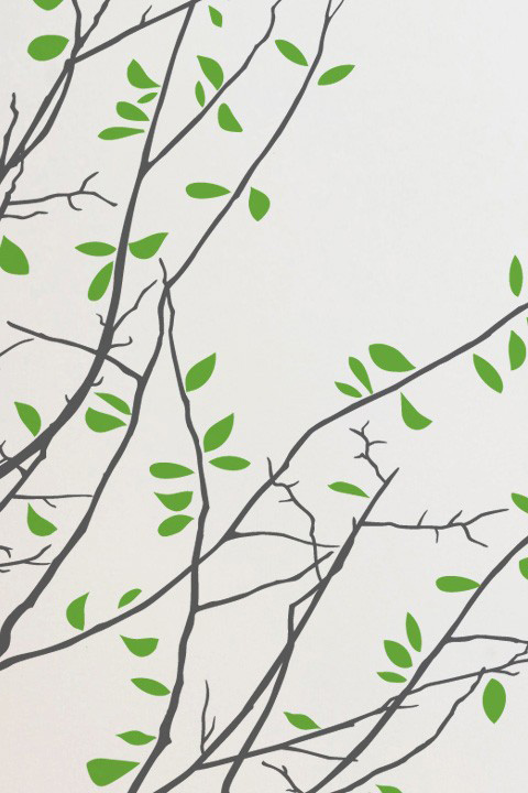 Mina Javid - Four Seasons Graphite - Giant Wall Sticker & Wall Decals only on Stickboutik.com - 4/5