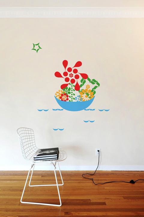 Floral Ponctuation  - Giant Wall Stickers  2x4: Wall Sticker & Wall Decal Main Image
