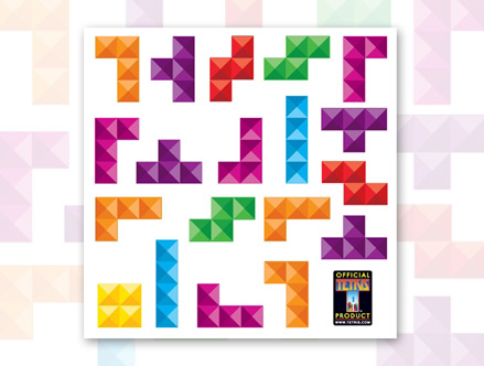 Package content: Tetris Pyramid - Mini Wall Stickers by  Tetris - Only Stickboutik.com