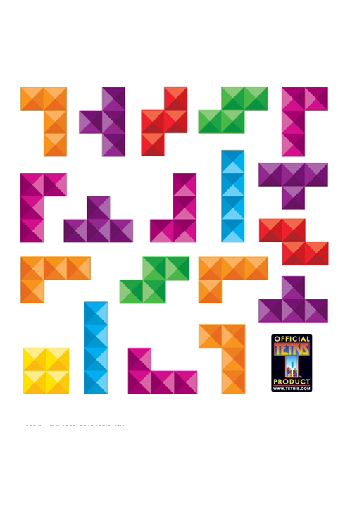 Official Tetris Wall Stickers & Decals | Tetris Pyramid - Mini Wall Stickers for a custom Geek decor - Stickboutik.com - 1/7