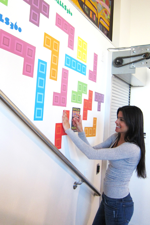 Official Tetris Wall Stickers & Decals | Tetris Pyramid - Mini Wall Stickers for a custom Geek decor - Stickboutik.com - 4/7