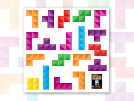 Package content: Tetris Cube - Large Wall Stickers by  Tetris - Only Stickboutik.com