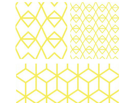 Stickers Muraux et stickers deco Fold Yellow Crystal - Stickers Muraux chez stickboutik.com