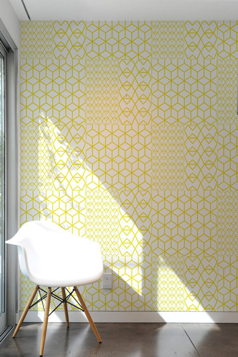 Fold Yellow Crystal - Stickers Muraux  Kirath Ghundoo - 2/4