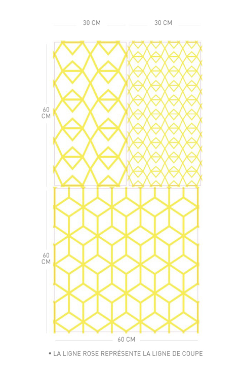 Fold Yellow Crystal - Stickers Muraux  Kirath Ghundoo - 3/4
