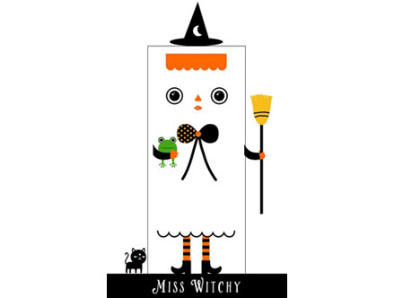 Stickers Muraux et stickers deco Miss Witchy - Stickers de porte  chez stickboutik.com