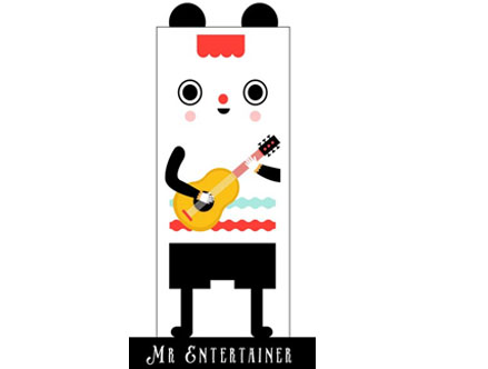 Stickers Muraux et stickers deco Mr. Entertainment - Stickers de porte chez stickboutik.com