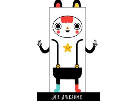 Contenu du pack: Mr. Awesome - Stickers de porte Muxxi
