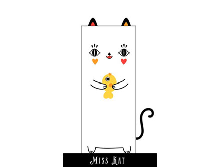 Stickers Muraux et stickers deco Miss Kat - Stickers de porte chez stickboutik.com