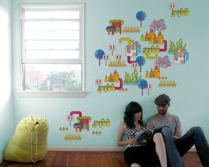 Image: Stickers / fresque Dreamland sur Stickboutik.com