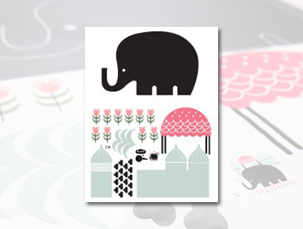 Package content: Chalk Elephant  - Kids Wall Stickers by  WeeGallery - Only Stickboutik.com