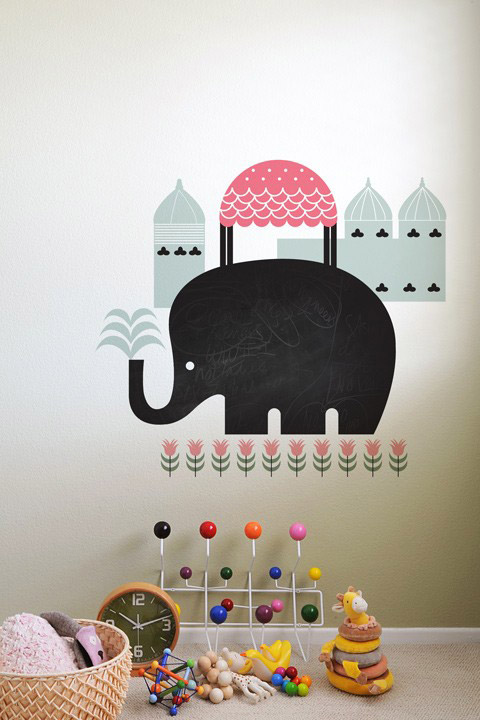 WeeGallery - Chalk Elephant  - Kids Wall Stickers & Wall Decals only on Stickboutik.com - 1/6