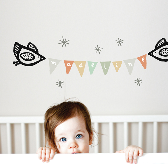 Name Banner - Kids Wall Stickers  WeeGallery: Wall Sticker & Wall Decal Main Image