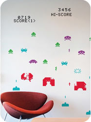Stickers G�ants Space Invaders  Taito - stickboutik.com