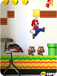 Stickers muraux New Super Mario Bros. par Nintendo