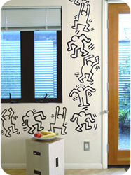 Stickers muraux Dancers XL par Keith Haring