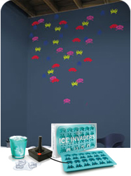 Stickers muraux Mini ICE Invaders + bac a glacons