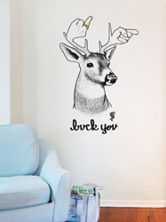 Stickers muraux Buck You par Sam Flores