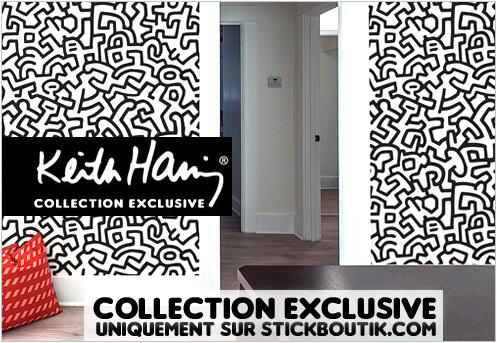 Stickers Muraux Keith Haring Geants- Stickers exclusifs uniquement sur Stickboutik.com