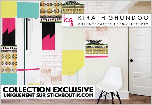Stickers Muraux Design par Kirath Ghundoo - Stickers exclusifs uniquement sur Stickboutik.com