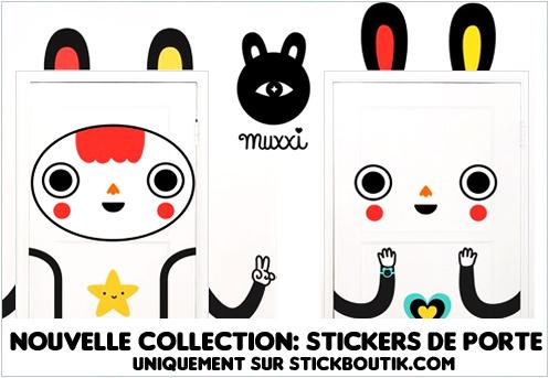 Stickers Muraux de porte par Muxxi - Stickers exclusifs uniquement sur Stickboutik.com