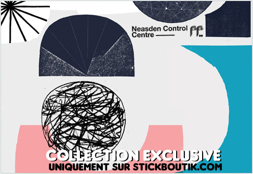 Sticker Mural Géant par NCC - design minimaliste et contemporain, uniquement sur Stickboutik.com