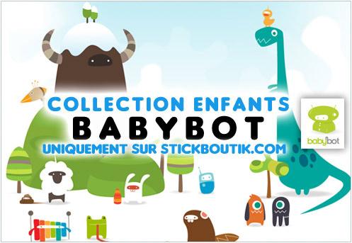 Stickers Muraux enfants par BabyBot - Stickers exclusifs uniquement sur Stickboutik.com