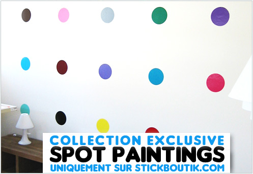 Stickers Spot Paintings - Stickers Muraux Design inspirés par Damien HIRST - Stickers exclusifs uniquement sur Stickboutik.com