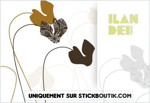 Stickers floraux design par Ilan Dei - minimaliste et contemporain, uniquement sur Stickboutik.com