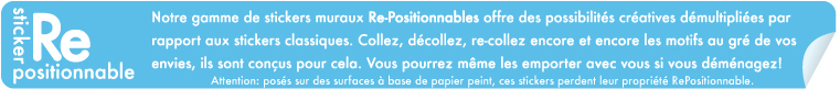 Stickers muraux repositionnables