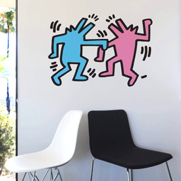 Sticker muraux Dancing Dogs par Keith Haring - Stickers NOUVEAUTES