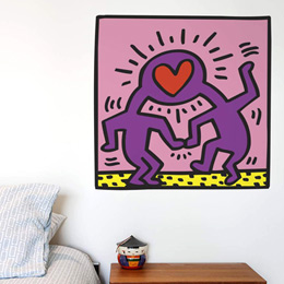 Sticker muraux Love Heads par Keith Haring - Stickers NOUVEAUTES