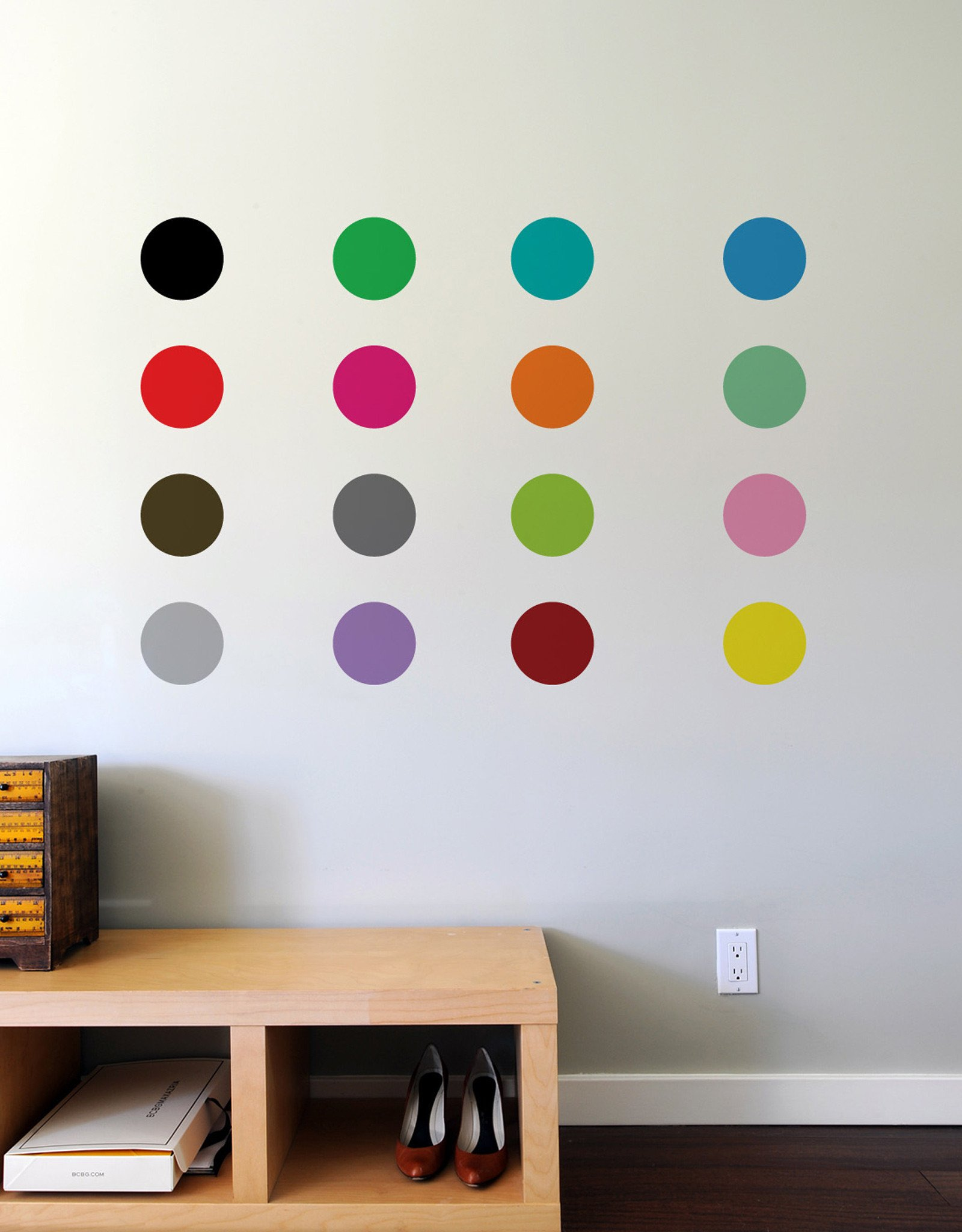 Relatively Spot Painting Wall Stickers by Damien Hirst inspired- Giant Wall  LF17